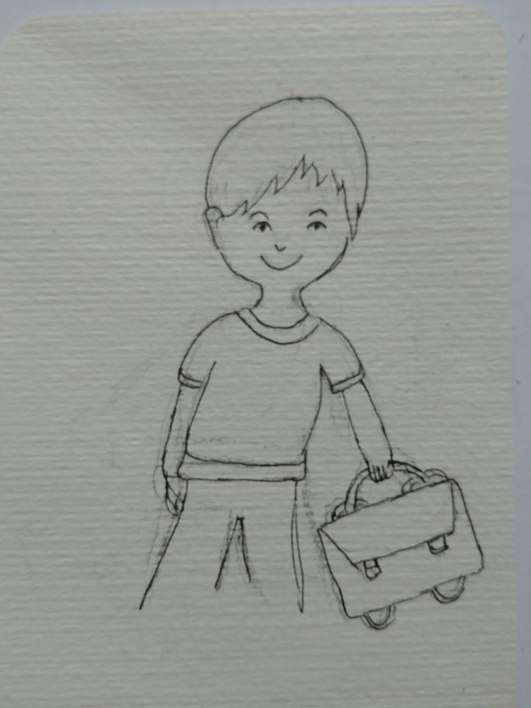 dessin écolier