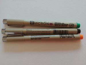 feutres microns couleurs