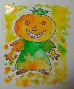 objectif dessin aquarelle halloween