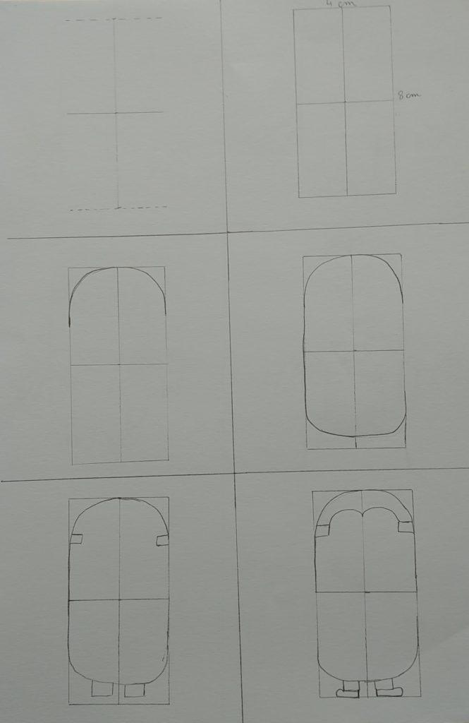 Etapes dessin du minion