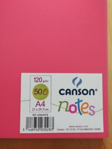cahier dessin canson notes