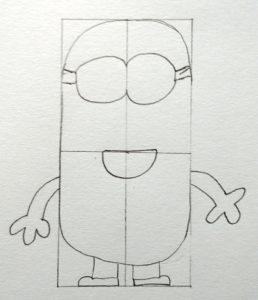 minion lunettes bouches et bras
