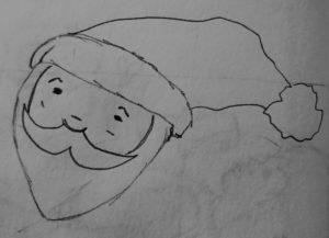 dessin père noel facile