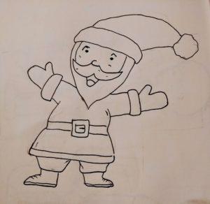 Comment Dessiner Un Pere Noel Facilement