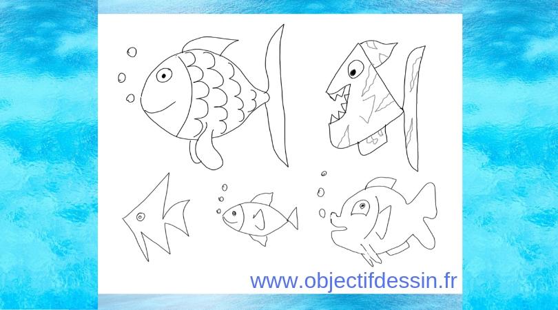 dessin poisson facile