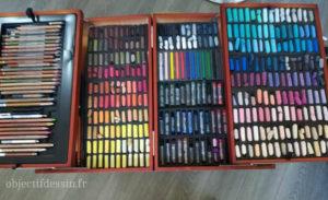 boîte dessin Lidl pastel