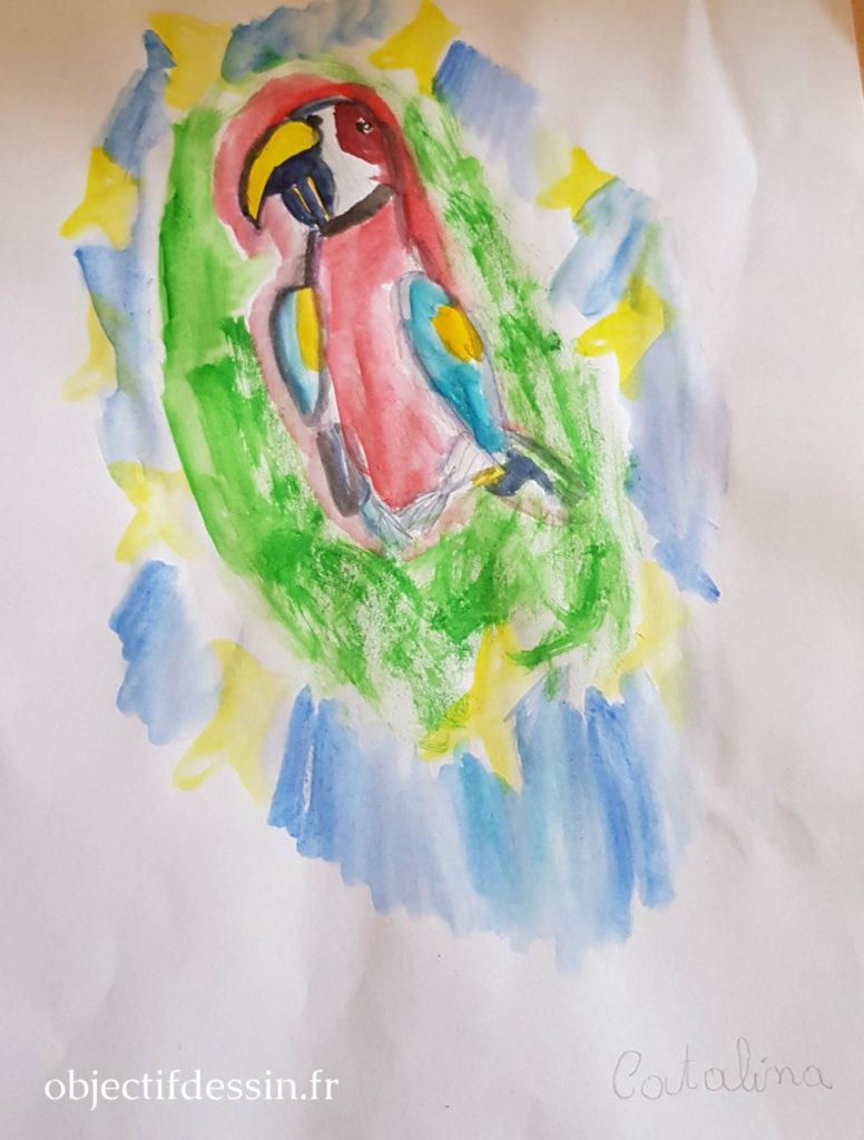 dessin oiseau Catalina