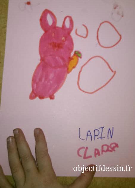 dessin lapin Clara
