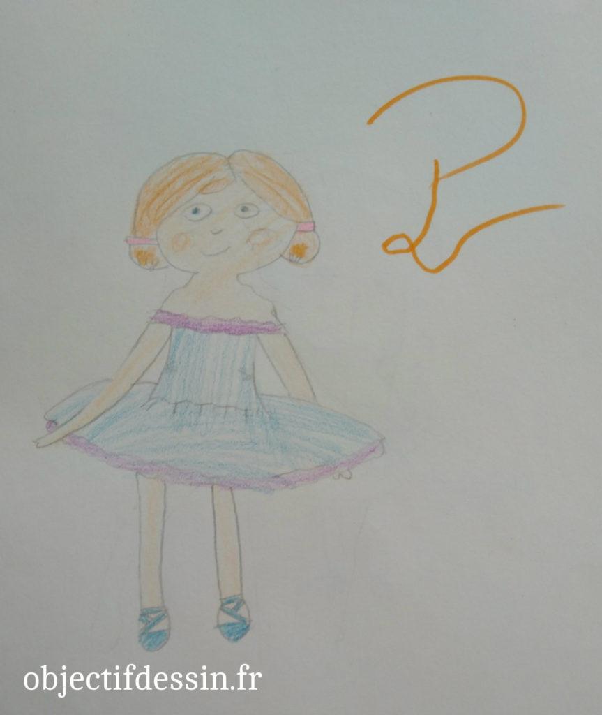 P4 dessin danseuse