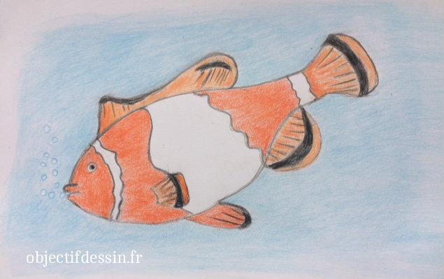 dessin facile poisson