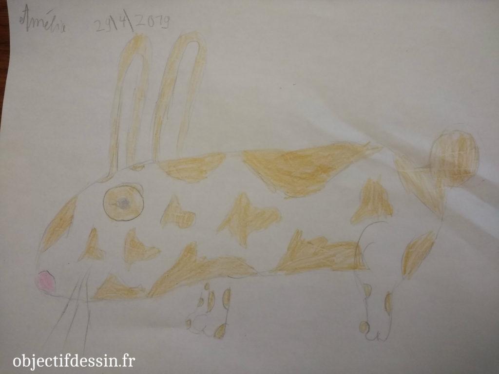 dessin lapin Amélia