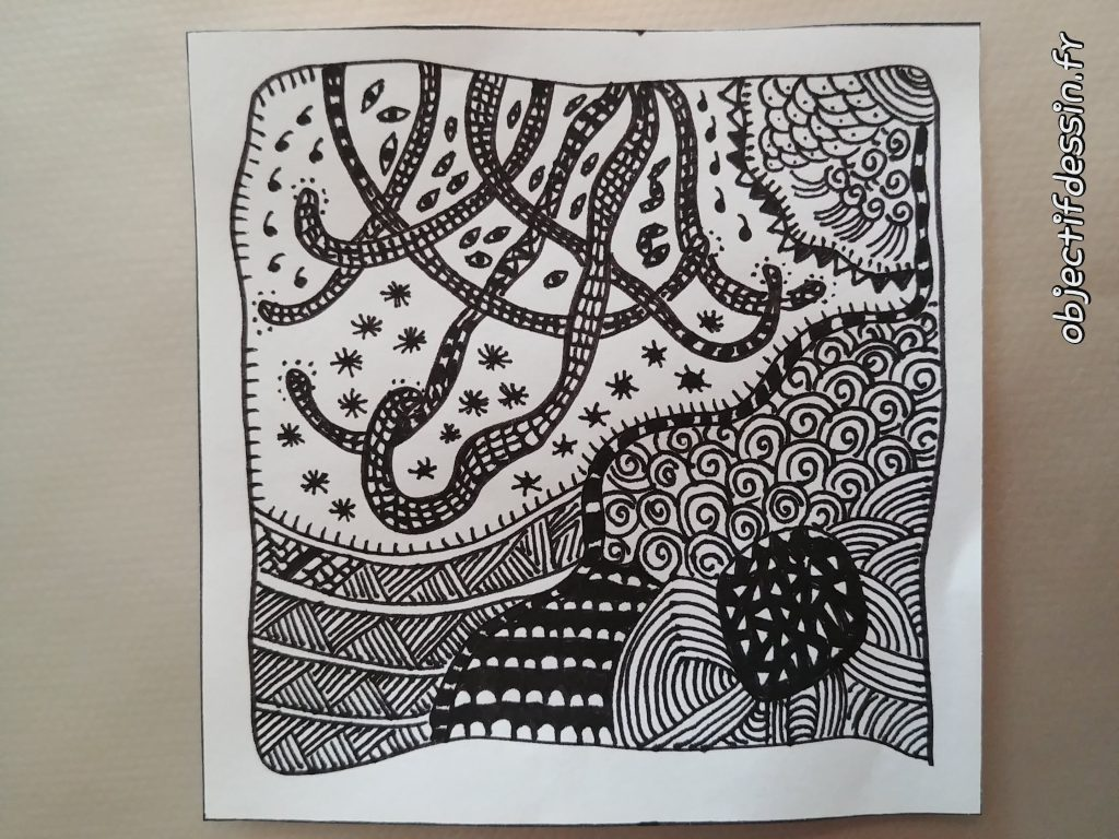 zentangle serpent