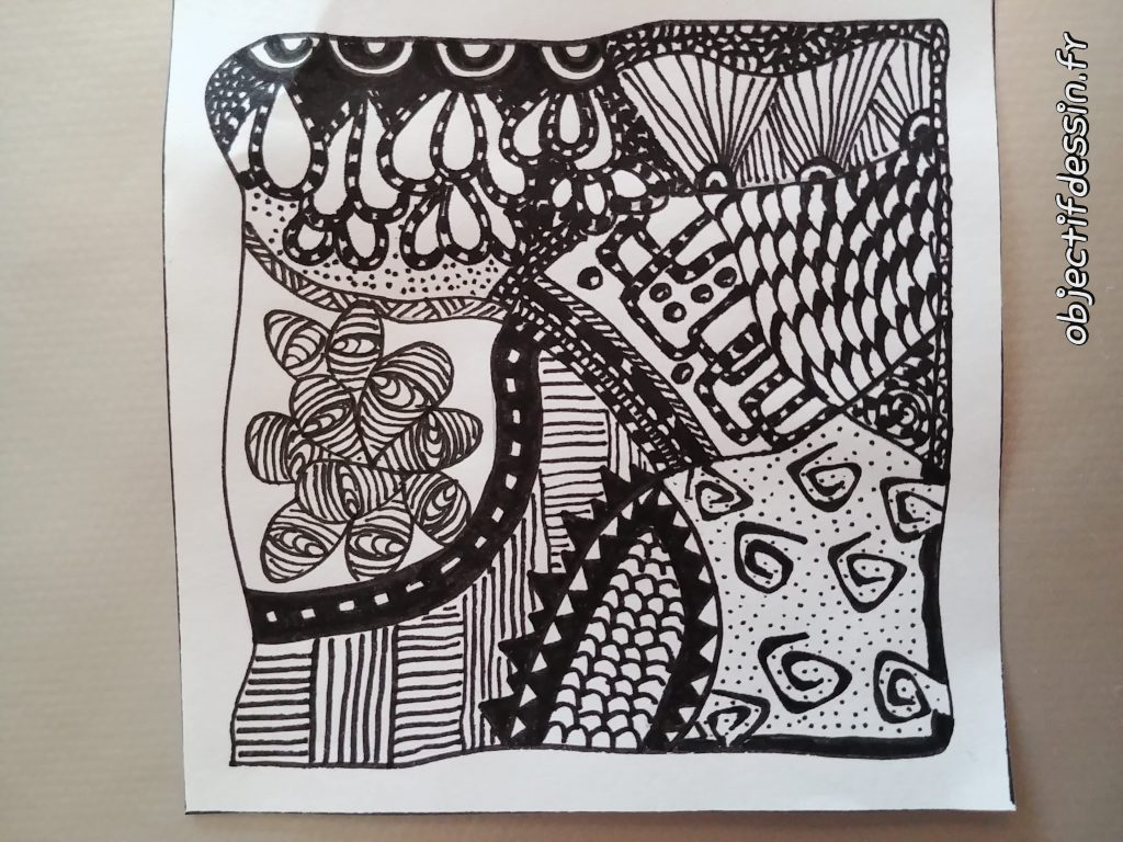 zentangle tile