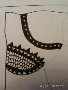 zentangle en noir