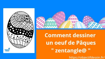 dessin œuf Pâques zentangle