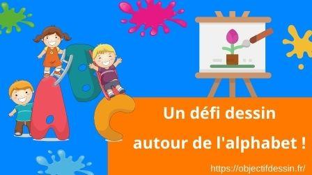 VISUEL ARTICLE Défi Dessin Autour De L'alphabet