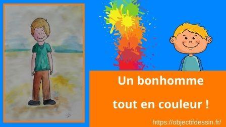 Visuel Un Bonhomme Tout En Couleur !
