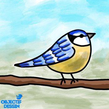 Dessin Oiseau Branche Facile (25)