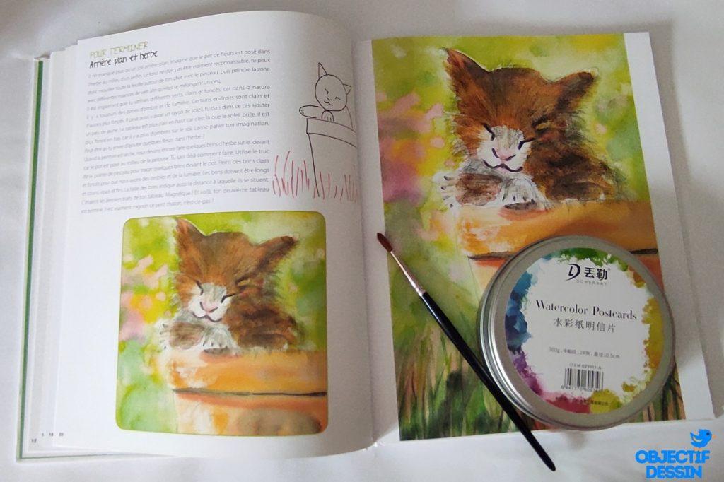 Livre Aquarelle Enfant Chat