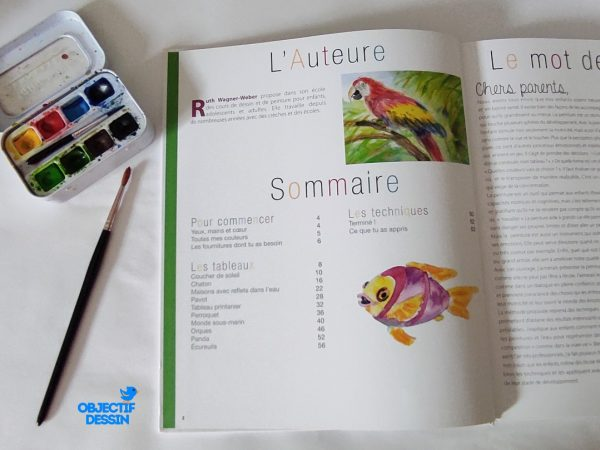 Livre Aquarelle Enfant Sommaire