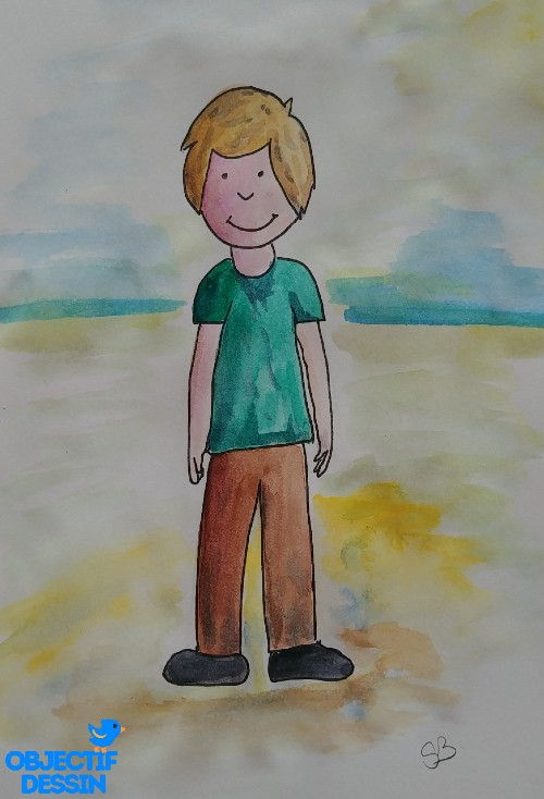 dessin bonhomme en couleur
