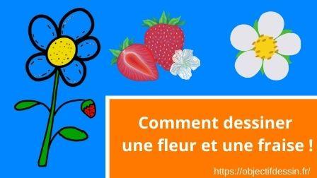 Voici un pas à pas de dessin facile de fleur avec une fraise. Tu pourras t'en inspirer pour en créer beaucoup d'autres !