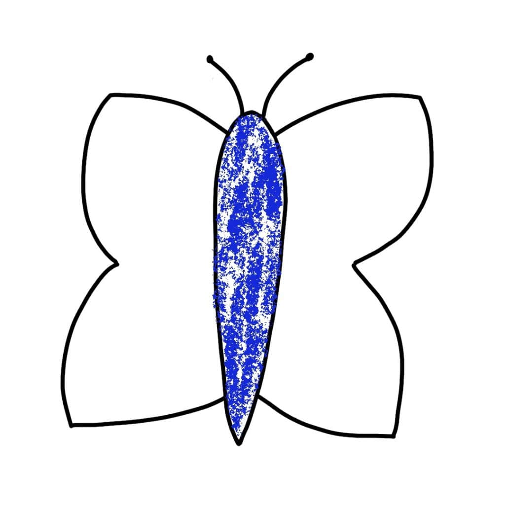 Dessin Papillon Craies (1)