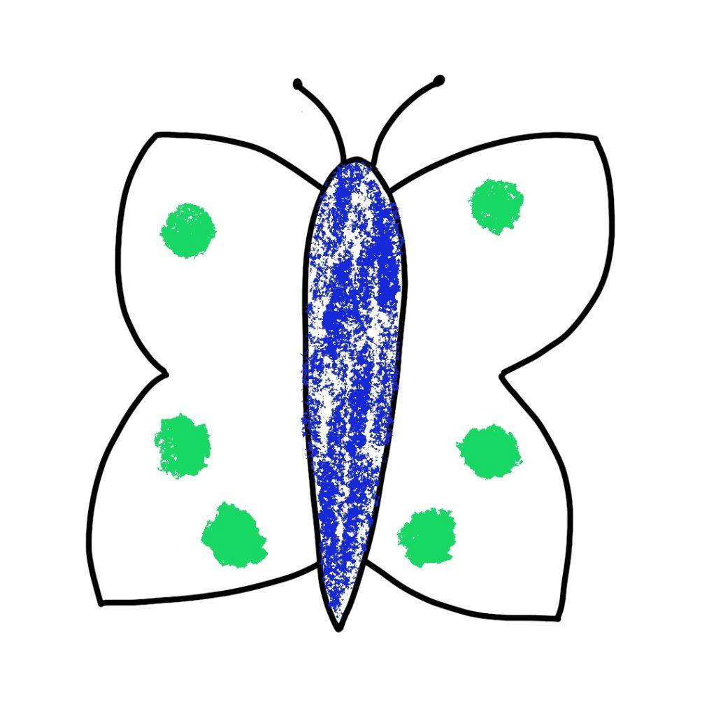 Dessin Papillon Craies (2)