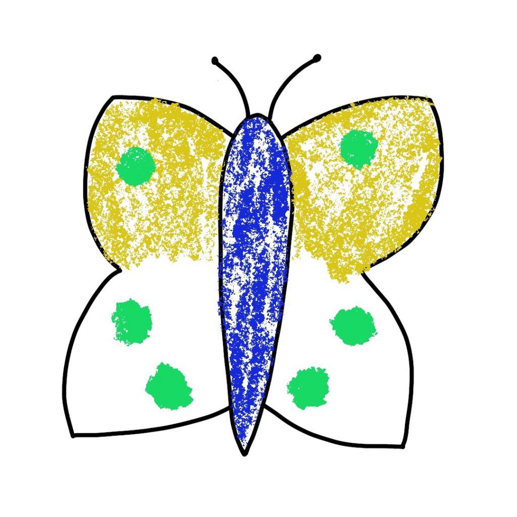 Dessin Papillon Craies (3)