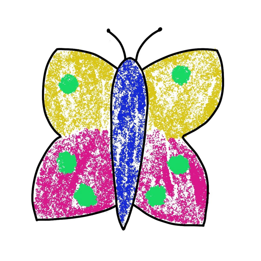 Dessin Papillon Craies (4)
