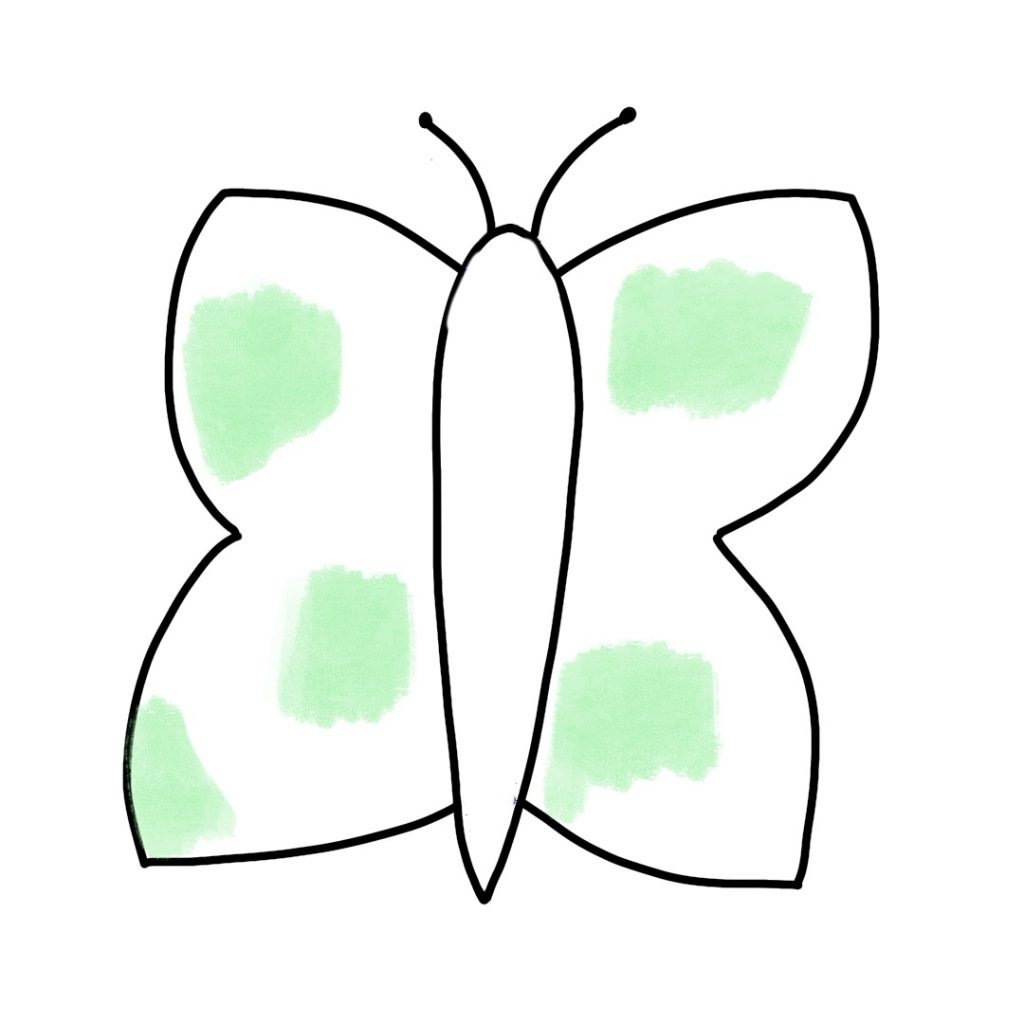 Papillon Peinture Et Feutre Noir (1)