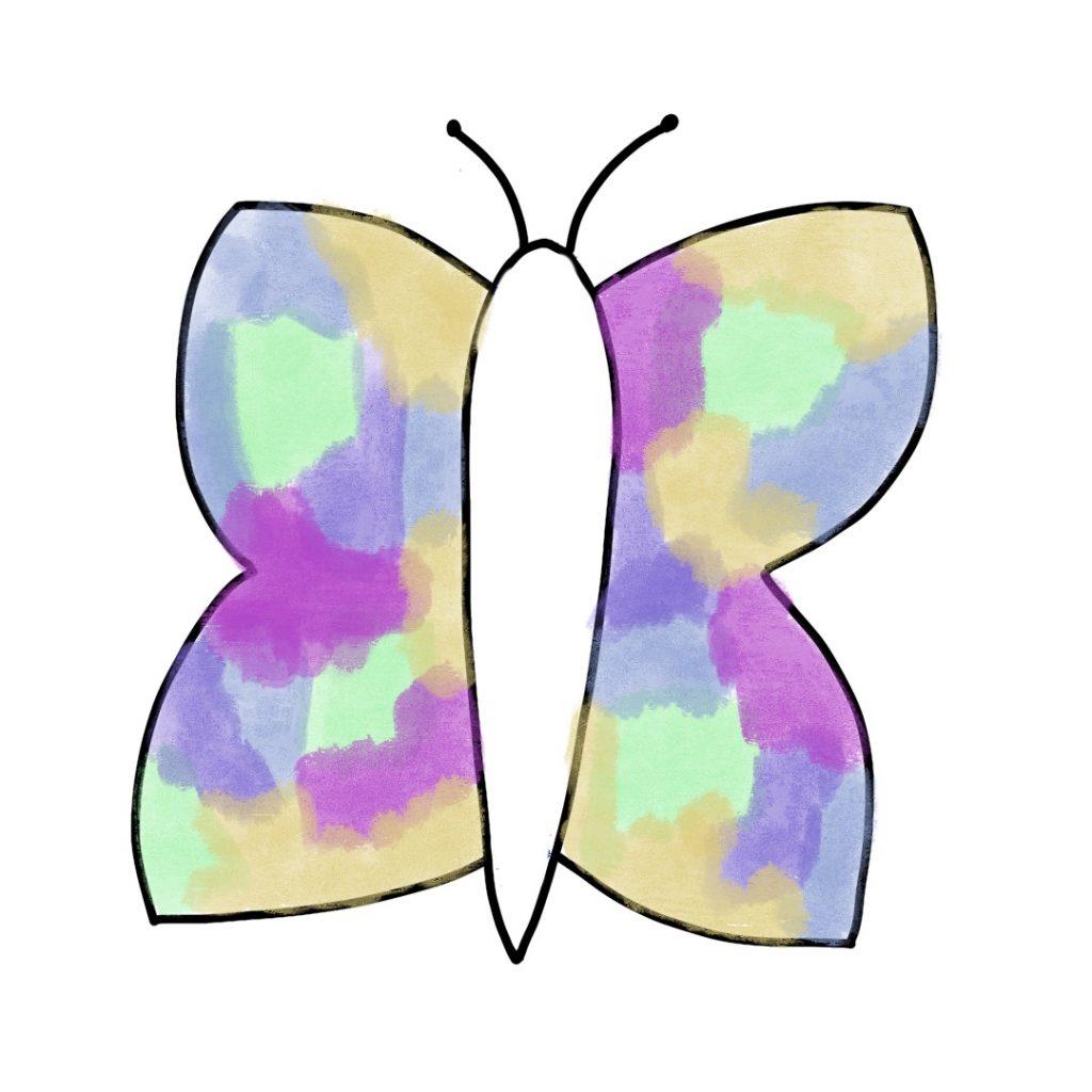 Papillon Peinture Et Feutre Noir (4)