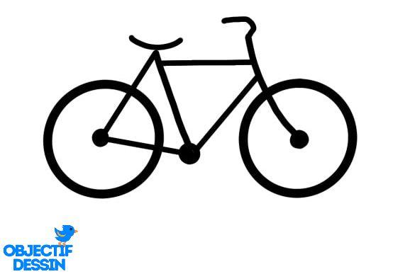 dessin simple vélo