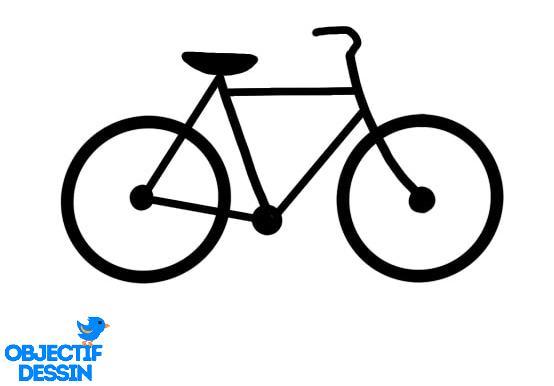 comment dessiner vélo simplement