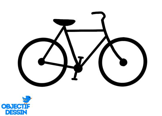 dessin vélo très facile