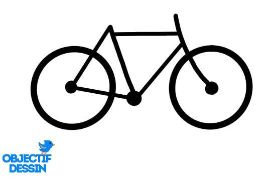 dessin facile vélo