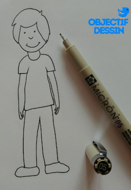 dessin Bonhomme Au Feutre